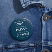 Grace, Passion, Purpose Button-Navy