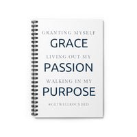 Grace, Passion, Purpose Spiral Notebook - Ruled Line