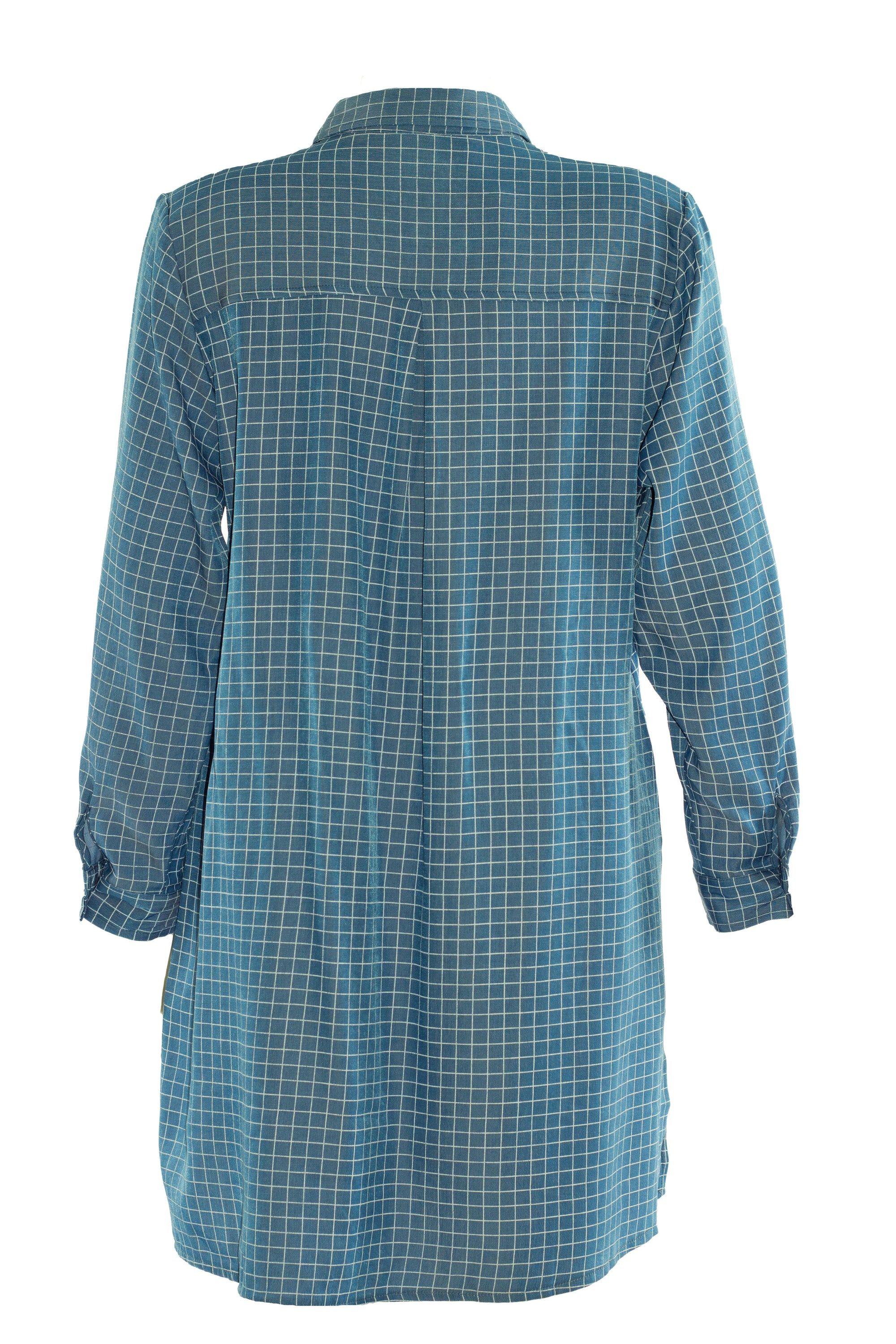 Checked Long Blouse