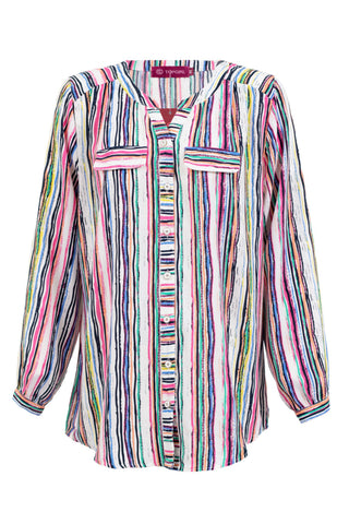 Colored Striped Blouse