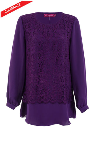 Vintage Cutout Lace Blouse