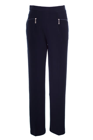 Plain Pants with Zipper Pocket