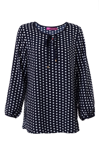 Polka Dot Satin Blouse