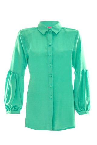 Puffy Sleeve Collar Blouse