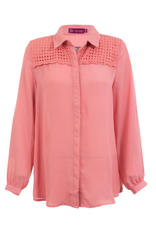 Plain Collar Blouse