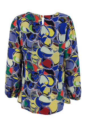 Geo Layered Front Blouse