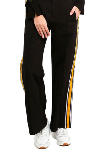 Side Stripe Boot Cut Pants