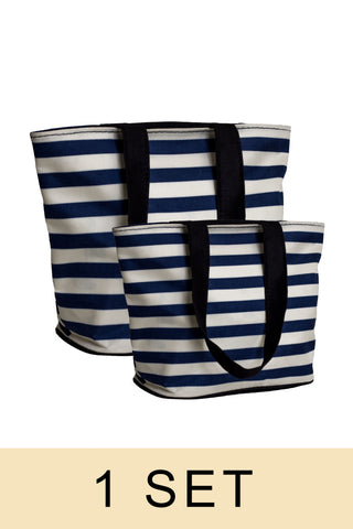 Stripe Tote Bag (1 set)