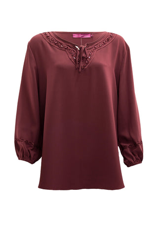 Pearl Beads Neckline Blouse