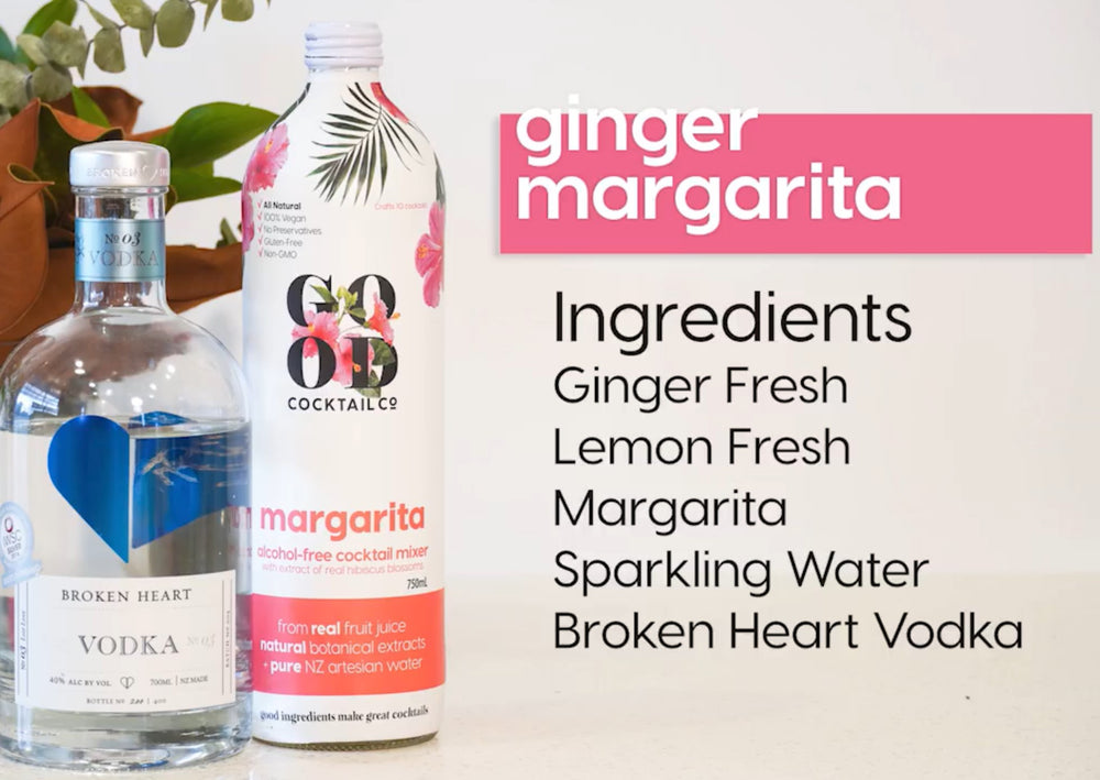 Ginger Margarita Recipe with Good Cocktail Co.
