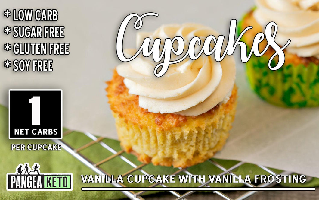 Cupcake, Vanilla with Vanilla Frosting (2 Pack)