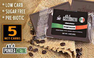 PangeaKeto Chocolate ESPRESSO Bar (1.5 oz), 6 Pack