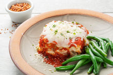 Load image into Gallery viewer, Pasta-Free Lasagna and Marinara Sauce with Seasoned Green Beans - FRZN