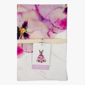 Pansy Dress Linen Tea Towel