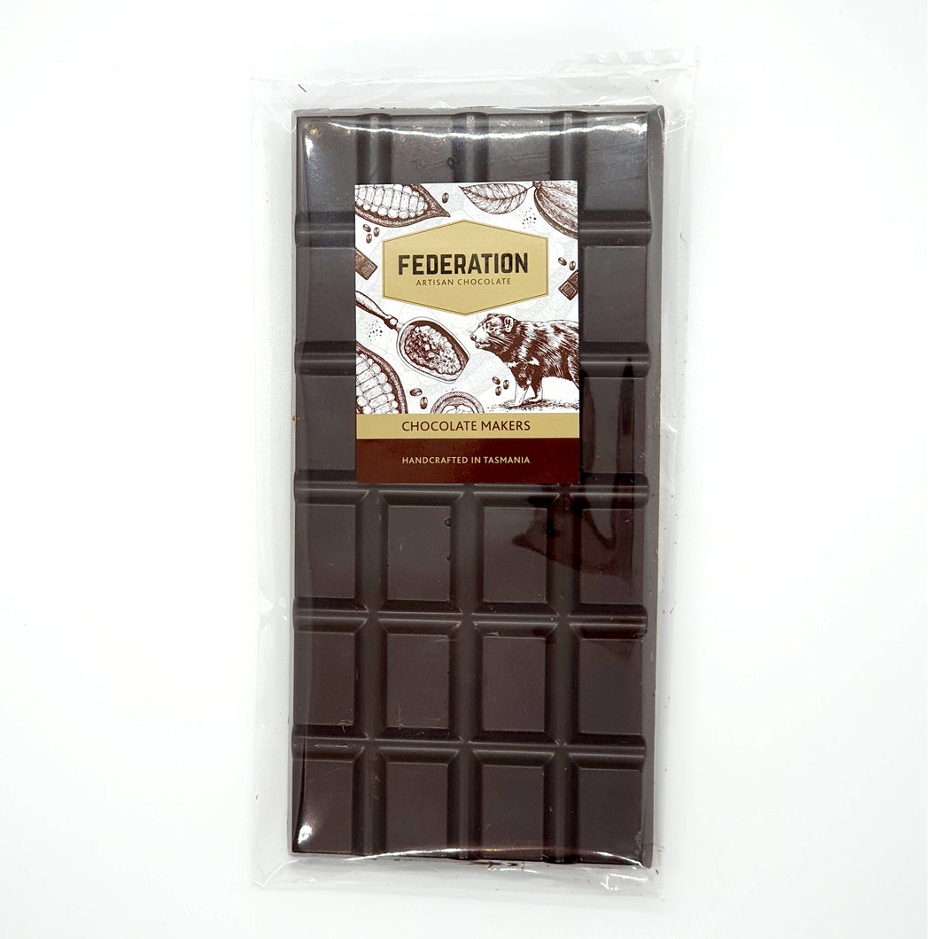 Tasmanian Whisky Infused Cacao Chocolate Block