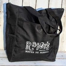 Load image into Gallery viewer, Genuine Ratsy's Store Black Reusable Bag with pockets!