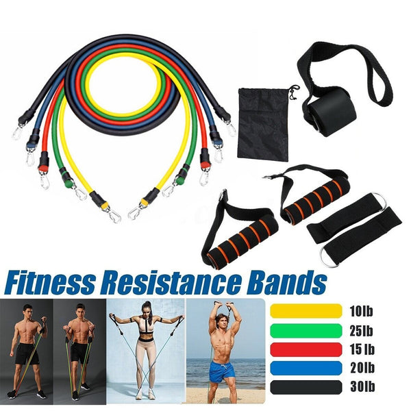 17/pcs HOME LATEX FITNESS PULL ROPE