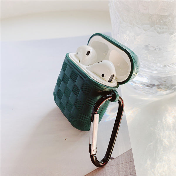 For Apple Air Pods with Leather Cover