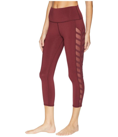 Alo Yoga Chevron Capri Black Cherry