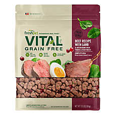 Vital® Grain-Free Beef & Lamb Recipe with Cranberries & Spinach Dog Food Recipe | Beef & Lamb Grain-Free Dog Meal | 5.5 lb
