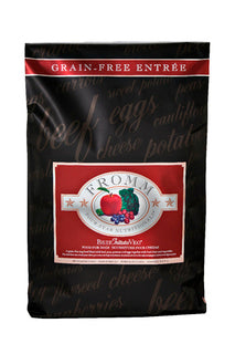 Fromm © Four Star Grain-Free Beef Frittata Veg Dry Dog Food | Grain-Free Beef Veggie Dry Dog Food | 3.3lb, 12.1lb or 26lb bag