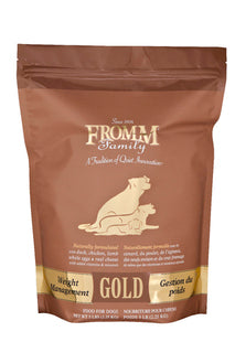 Fromm © Gold Weight Management Dry Dog Food | For Weight Reduction or Weight Maintenance | 5lb, 15lb or 33lb