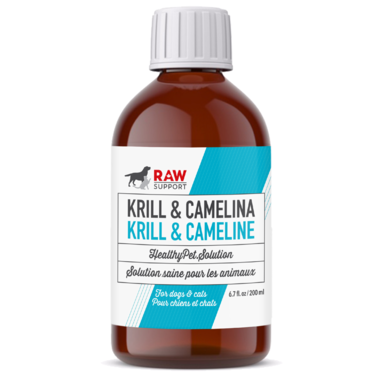 Krill & Camelina Oil -Raw Support For Dogs + Cats