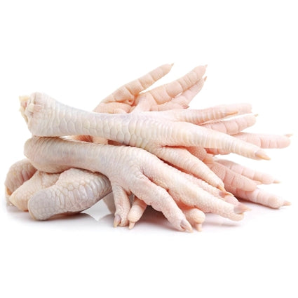 Raw Individually Frozen Chicken Feet for Dogs- 2 lbs (approx. 15 pcs)