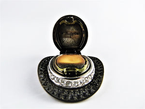 Estee Lauder Perfume Compact, Solid Perfume, Gold Top Hat