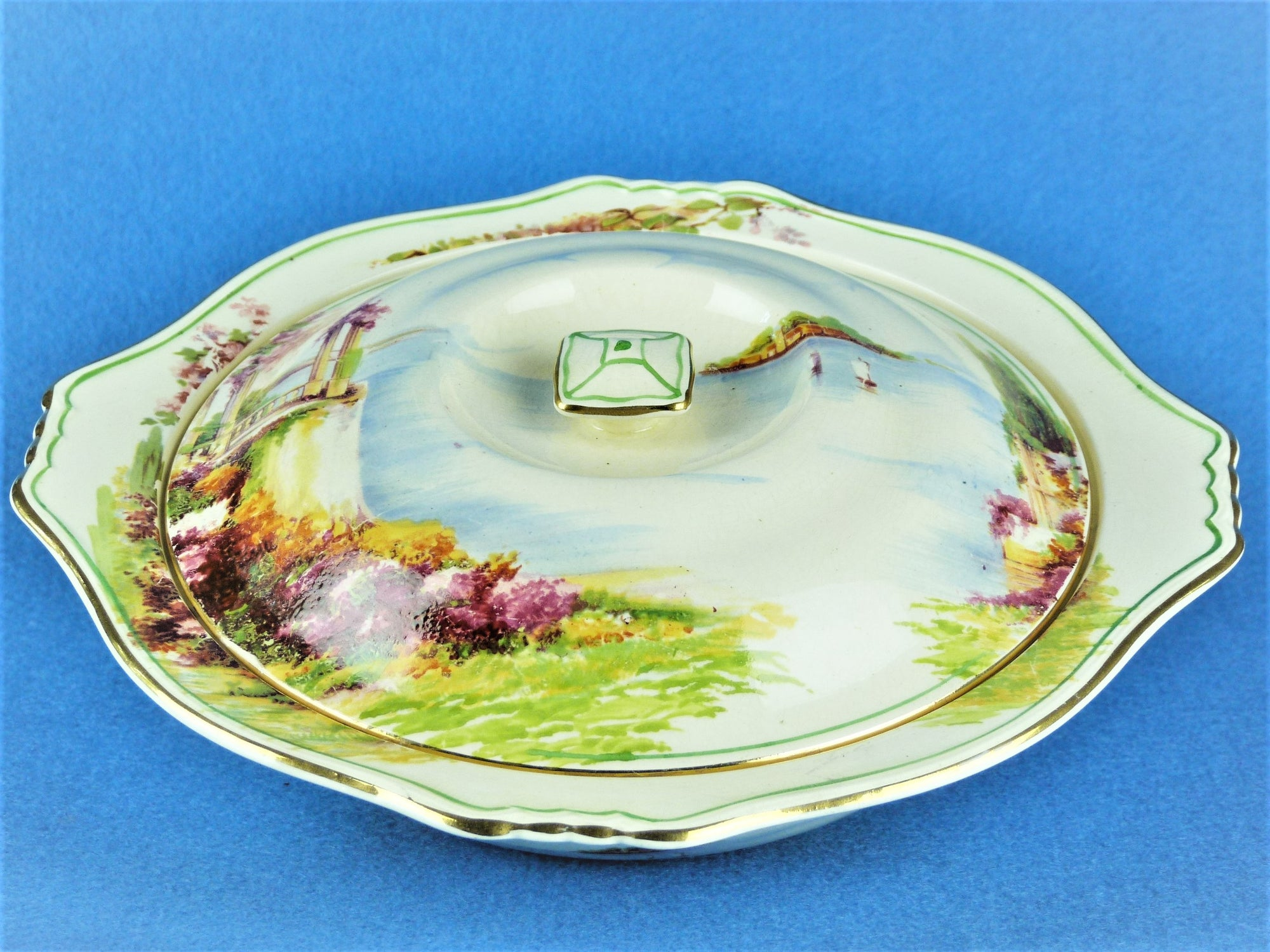 "Royal Winton Grimwades ""Como"" Covered Vegetable Dish, Very Attractive"