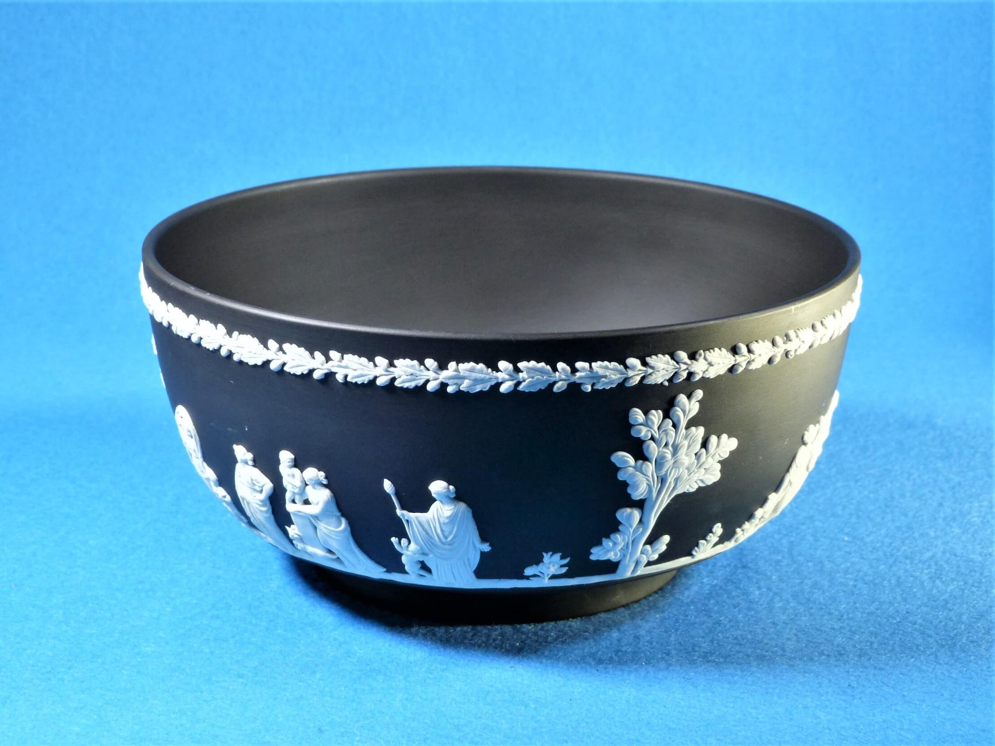 Wedgwood Jasperware Bowl, Black Jasperware Fruit Bowl, Superb