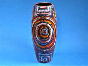 "Anita Harris ""Labyrinth"" Vase, Impressive Tall Vase, Hand Painted"