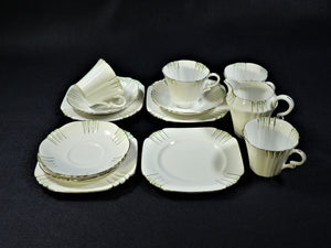 Royal Albert Tea Set, Art Deco Pattern, Royal Albert Crown China 9497