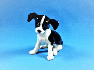 Sylvac Black and White Spaniel Puppy, No 2974, Very Cute