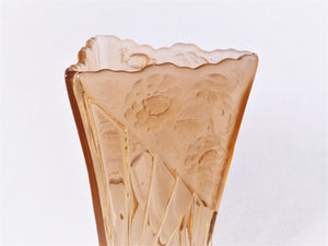 "Art Deco Vase, Sowerby Pink Glass ""Daisy"" Vase, Rg No 799041"
