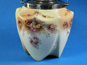 Carlton Ware Biscuit Barrel, Blush Ware 'Flowering Heather', Wiltshire & Robinson