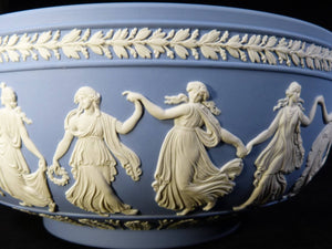 "Magnificent Wedgwood ""Dancing Hours"" Bowl, Blue Jasperware, Beautiful Condition"