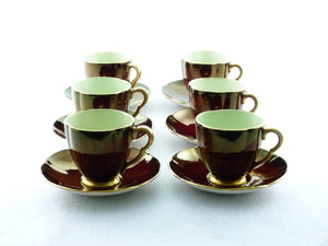 Carlton Ware Rouge Royale Coffee Set, Magnificent Colour