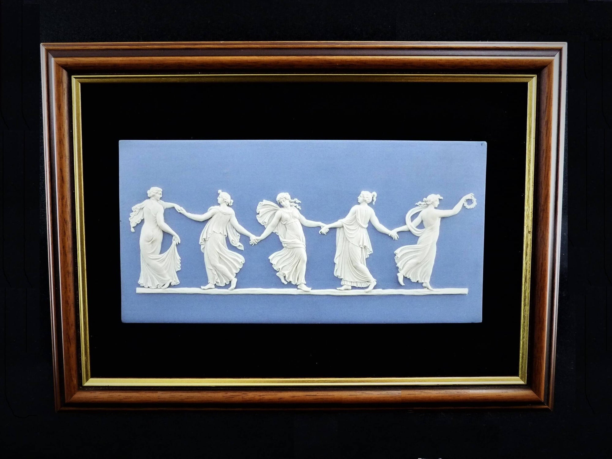 Wedgwood Jasperware Dancing Hours Wall Plaque, 1952, Stunning