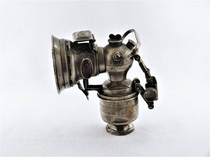 Miller Monarch Acetylene Bicycle Lamp, Birmingham, Early 1900's