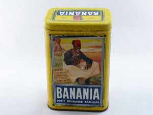 Banania Tin, Vintage French Chocolate Drink Tin, French Decor