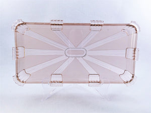 Pink Glass Dressing Table Set, Stolzle 1940's, Art Deco Vanity Set