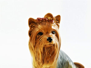 SylvaC Yorkshire Terrier, Collectible Dog Ornament No 5027, Very Cute Dog
