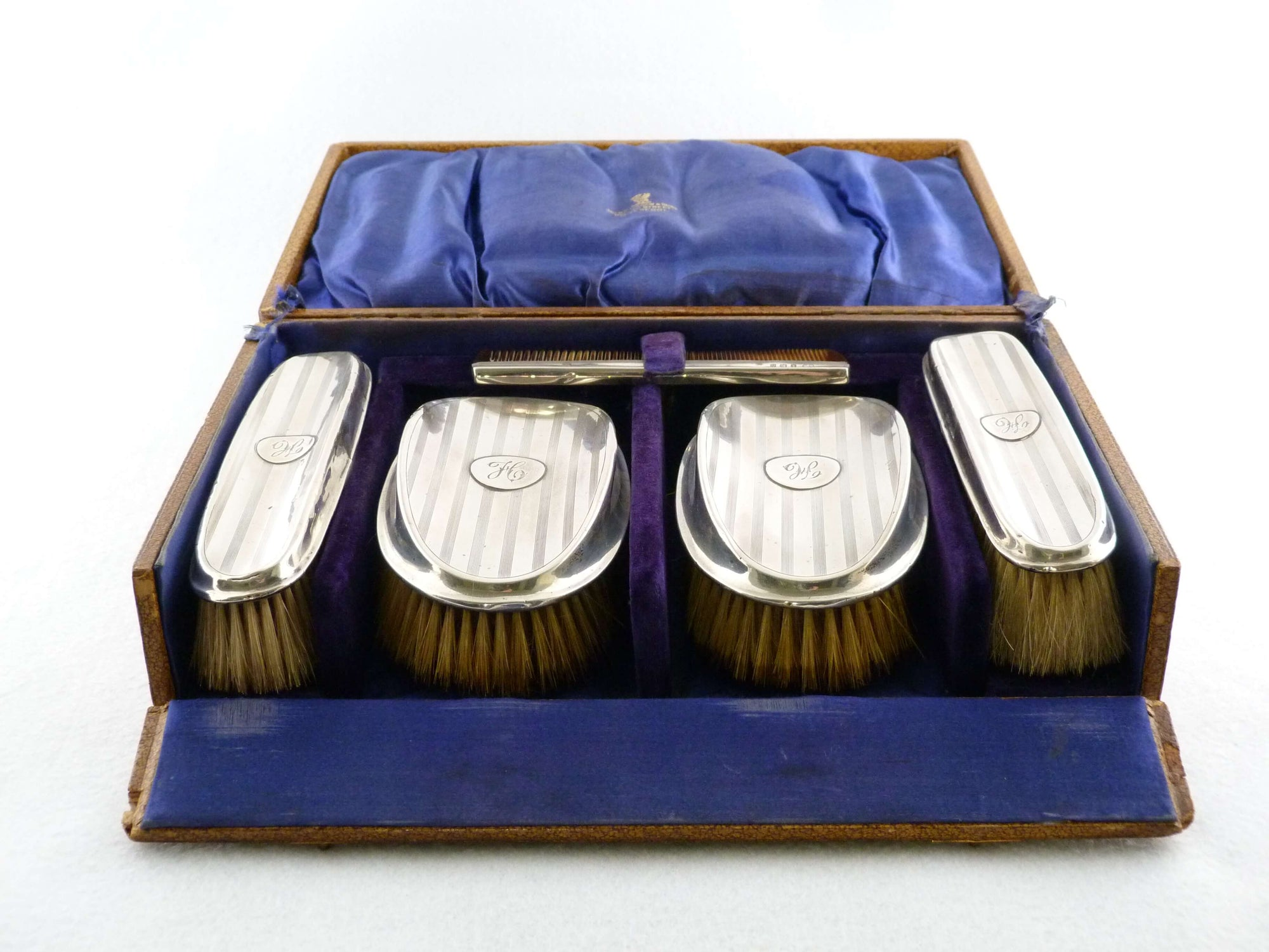 Sterling Silver Men's Grooming Set, Birmingham 1912, Original Box