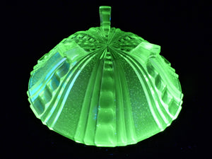Uranium Glass Large Bowl, Stunning Art Deco Green Bowl