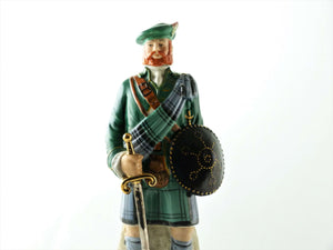 Clan Campbell Clansman Figurine Whisky Decanter, Home Bar Decor
