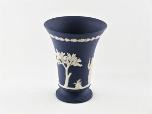 Portland Blue Jasperware Wedgwood Vase, Decorative Ornament, Stunning Vase