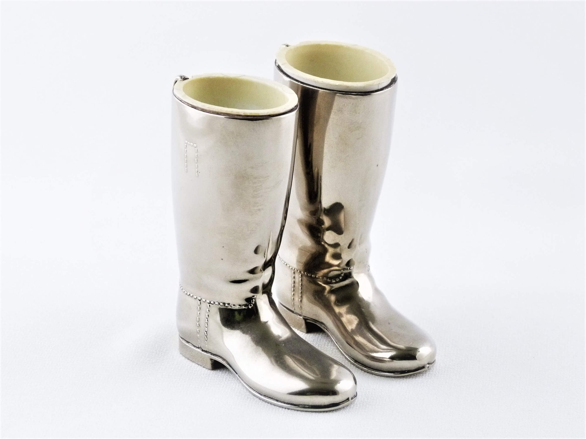 Silver-Plated Spirit Measures, Boot Shaped, Vintage Bar Ware