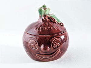 SylvaC Beetroot Face Pot, No 4553, Retro Kitchen Decor