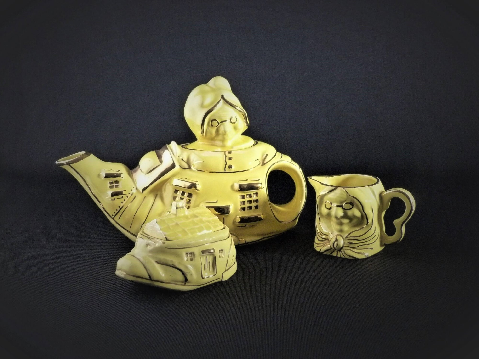 Vintage Tea Set, The Old Woman In The Shoe Tea Set, English China